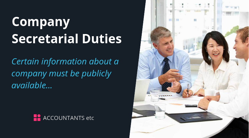 company secretarial duties