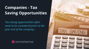company tax saving opportunities