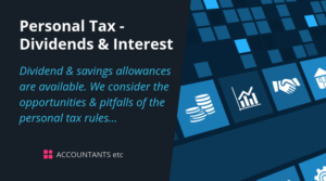 personal tax dividends interest