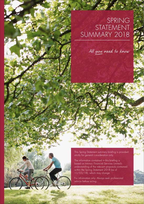 Spring Budget Statement 2018