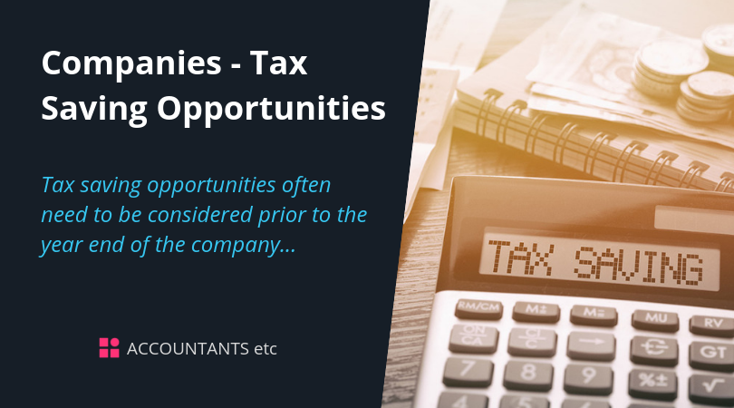 company tax saving opportunities