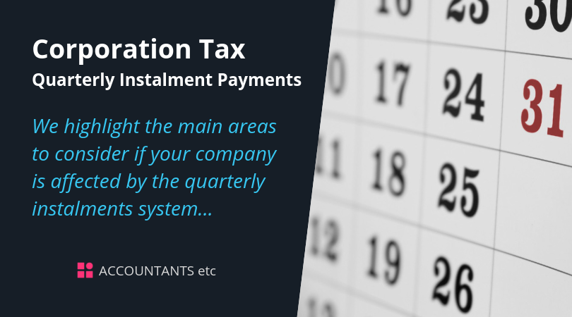 corporation tax quarterly instalment payments